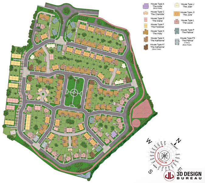 3d design bureau 2d plans portfolio for 3d site plan