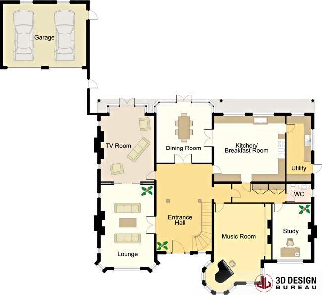 3d design bureau 2d plans portfolio for Architecture 3d plan 2d