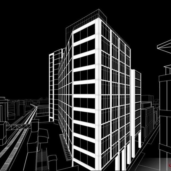 3D Line Drawings, Commercial Development, Ireland
