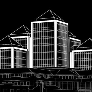 3D Line Drawings, Office Development,, Dublin