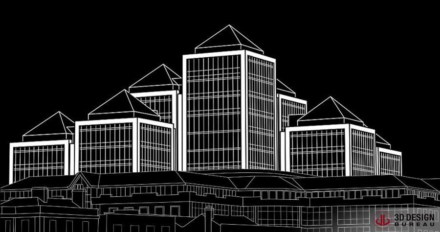 3d Line Drawings : D design bureau line drawings portfolio