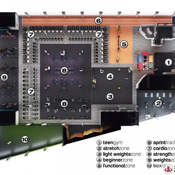 3D Plans, Gym Floorplan