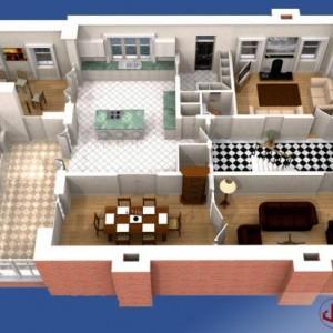 3D Plans, Residential Floorplan