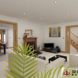 Architectural Animation, Livingroom, Portlaoise
