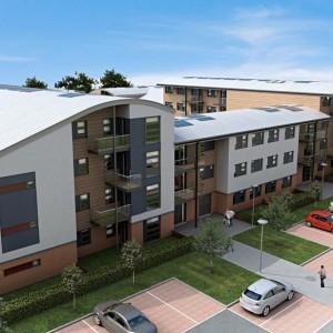 Architectural Rendering, Residential Development, Chertsey
