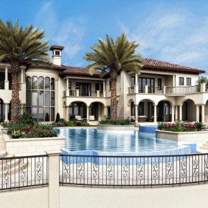 Architectural Rendering, Luxury Residence, Florida