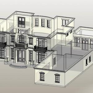 CAD to BIM, Luxury Residence, Florida