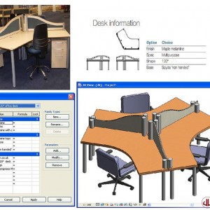 FF&E to BIM, Office Desk