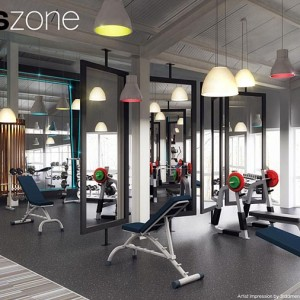 Interior Rendering, Gym, Dublin