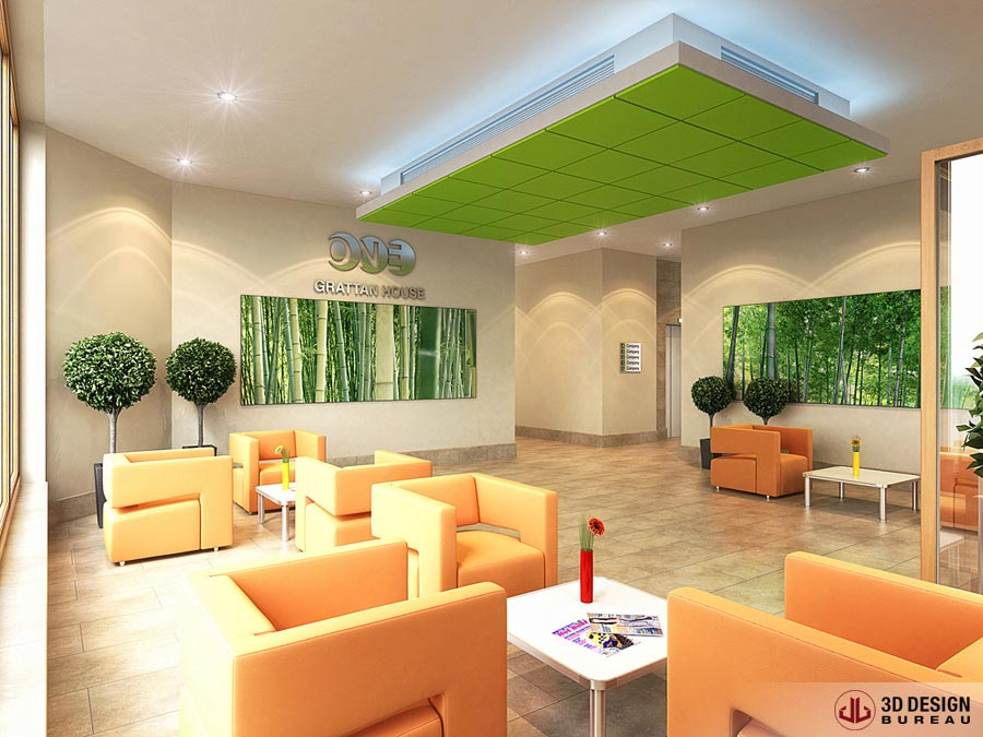 office lobby interior design. Fine Office London Interior Rendering Office Lobby In Lobby Design