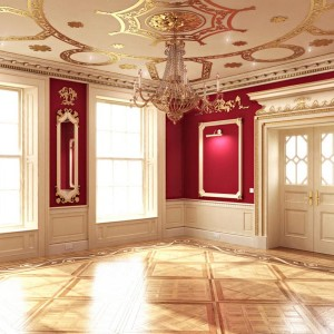 Interior Rendering, Classical Room, London
