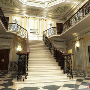 Interior Rendering, Luxury Staircase, London