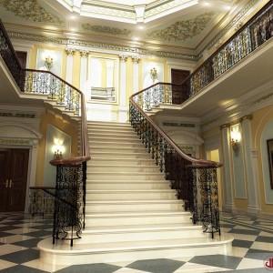 Interior Rendering, Luxury Staircase, London