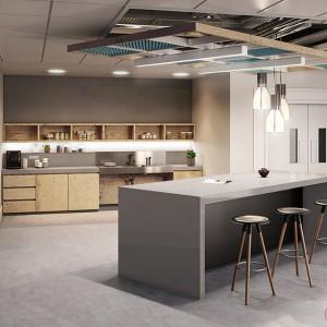 Interior Rendering, Office Kitchen, Dublin
