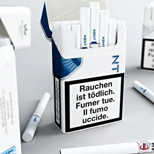 Product Rendering, Cigarette Packaging