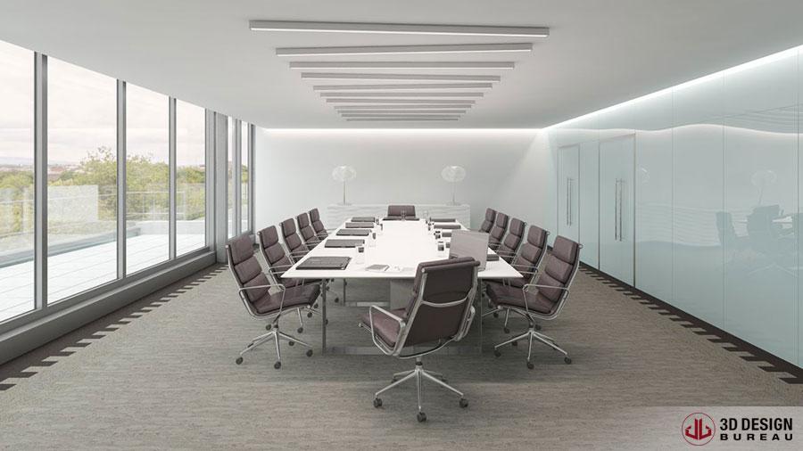 3d design bureau interior rendering portfolio for Commercial space design
