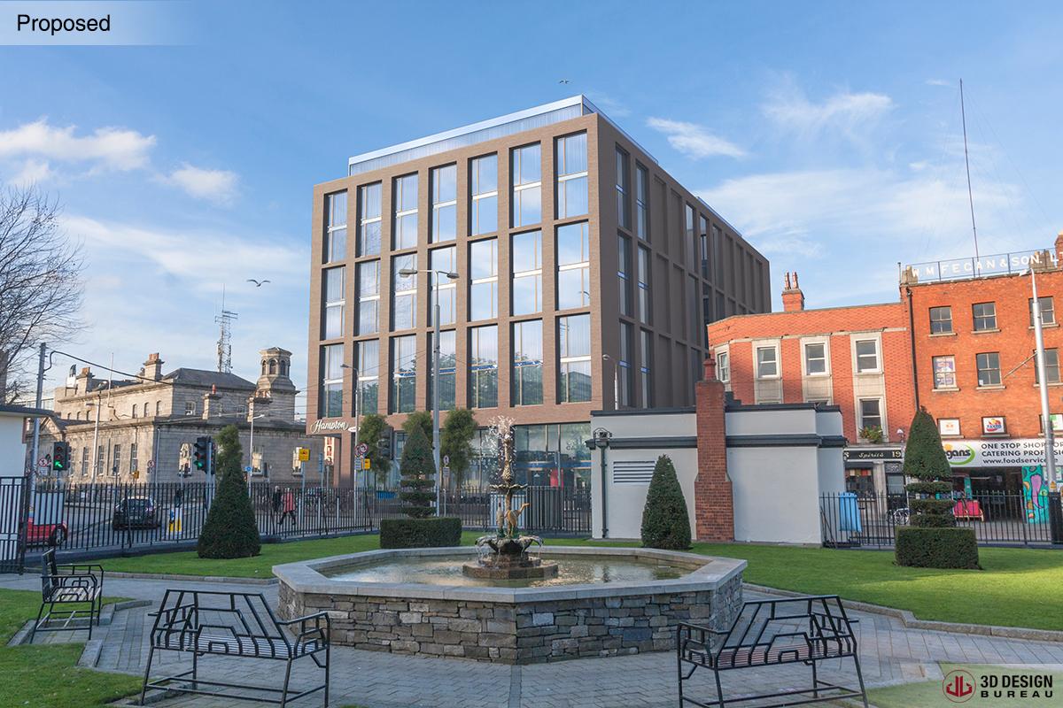 3d design bureau planning granted for hotel scheme on chancery street. Black Bedroom Furniture Sets. Home Design Ideas