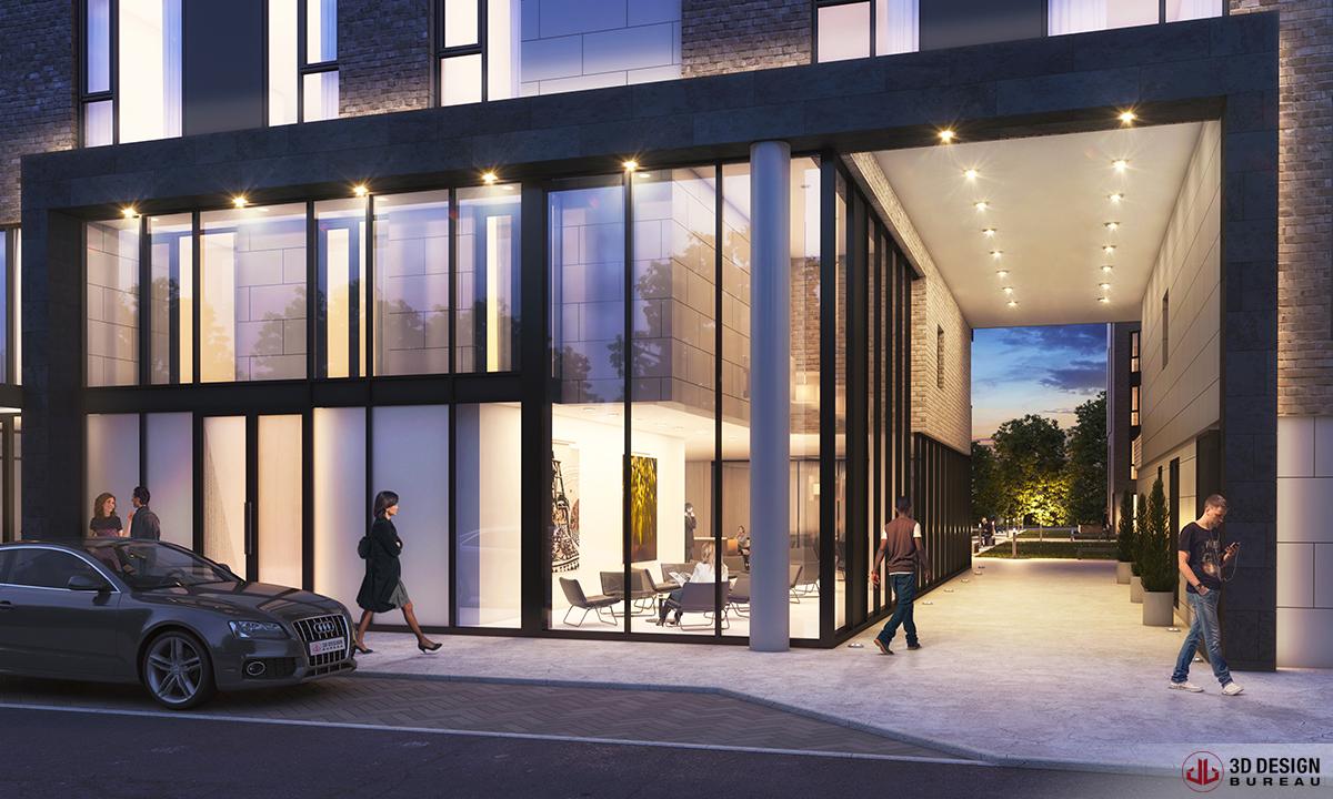 3d design bureau architectural rendering commercial. Black Bedroom Furniture Sets. Home Design Ideas