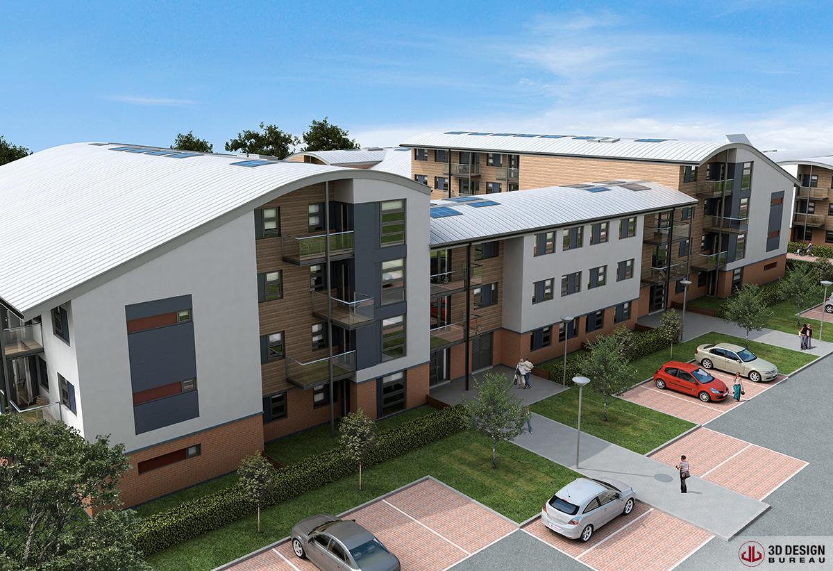 3d design bureau architectural rendering residential. Black Bedroom Furniture Sets. Home Design Ideas
