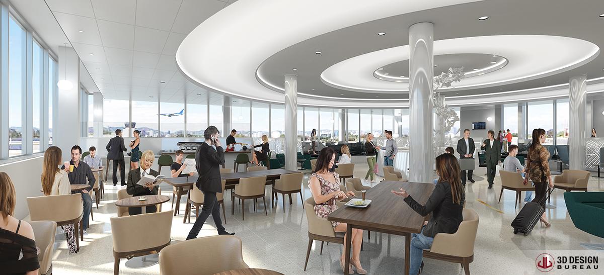 3d design bureau interior rendering retail for Bureau dessin