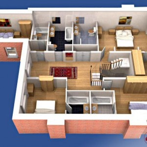 3D Plans, Residential Floorplan