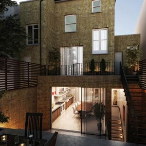 Architectural Rendering, House Extension, London