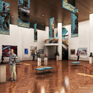 BIM 3D Visualisation, 3D Visualisation, Art Gallery, Abu Dhabi