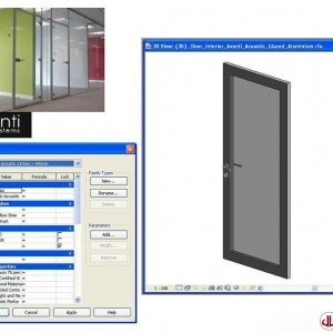 Building Components to BIM, Glazed Door
