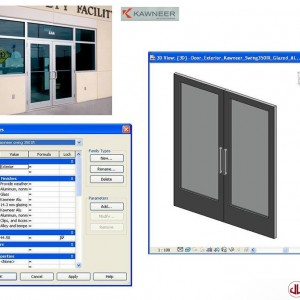 Building Components to BIM, Swing Door