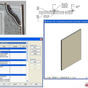 Building Components to BIM, Stone Panel