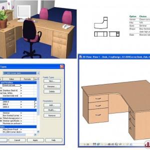 FF&E to BIM, Corner Desk