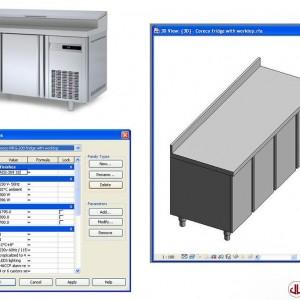 FF&E to BIM, Refrigerator