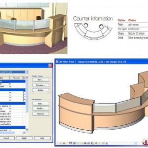 FF&E to BIM, Reception Desk