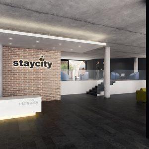 3D Design Bureau, Interior Rendering, Aparthotel - reception, Dublin
