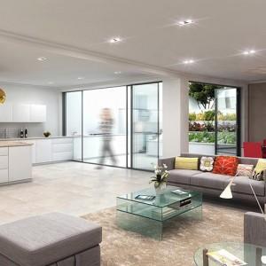 Interior Rendering, Modern Basement, London