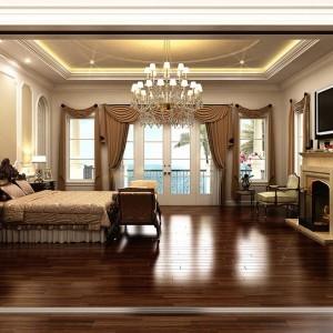 Interior Rendering, Luxury Bedroom, USA