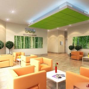 Interior Rendering, Office Lobby, Ireland