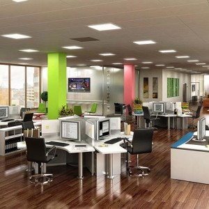 Interior Rendering, Open Plan Office, Dublin