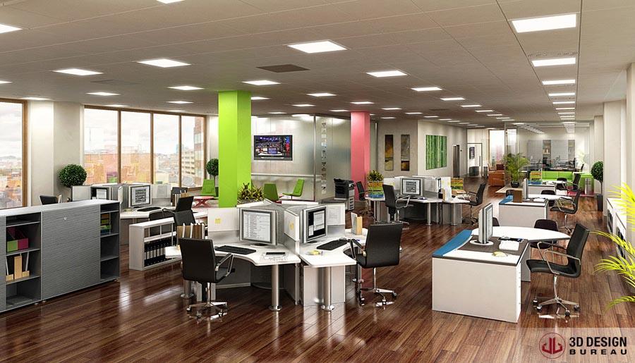 D design bureau interior rendering portfolio