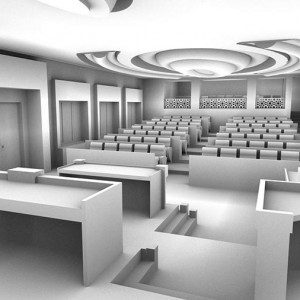 Scan to BIM, Structural Draft, Council Chamber, Abu Dhabi