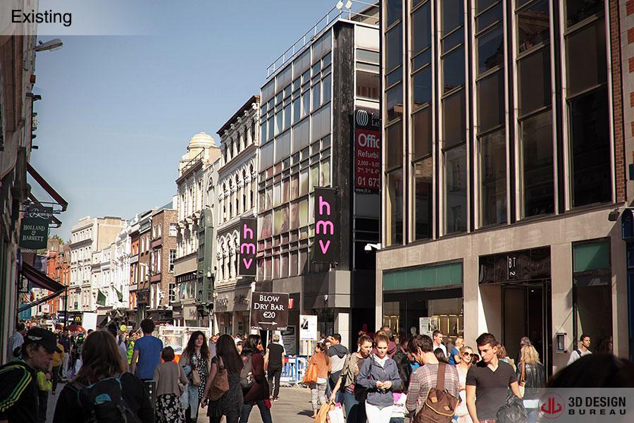 Retail Design Bureau.3d Design Bureau Retail Therapy Hmv Grafton Street Receives Major