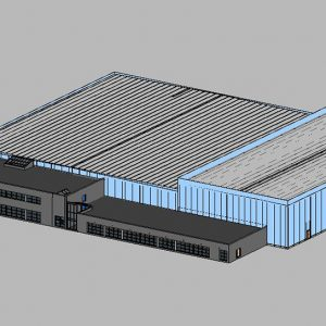 Scan to BIM - BIM Model, Warehouse - Ireland