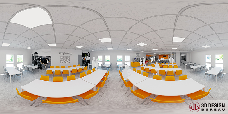 Virtual Reality - Proposed Canteen Space - Aramark